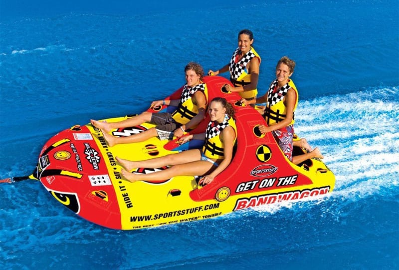 Best 4-person towable inflatable tube for pontoon boats