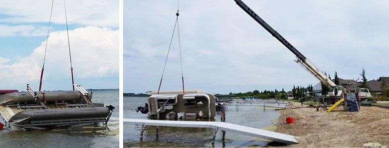 Are pontoon sea legs stable