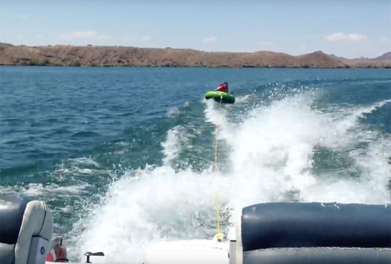 Can you pull a tube behind a pontoon boat