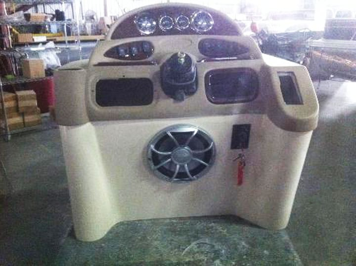 Subwoofer pontoon placement