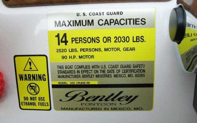 capacity decal