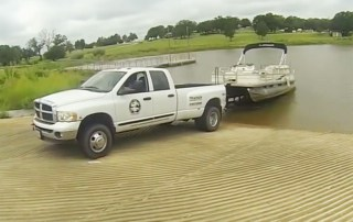how to launch a pontoon boat