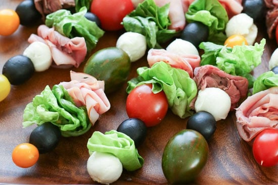 pontoon boat snack ideas including kabobs