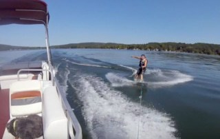 wakeboard pontoon boat