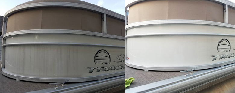 Before and after on side panels
