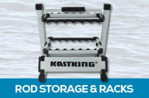 Fishing rod racks and storage