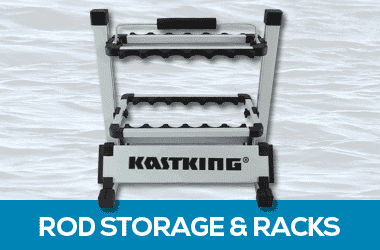Fishing rod racks and storage