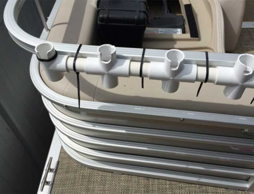 Pontoon boat shows best largest tips to make the most for Diy fishing rod holder for boat