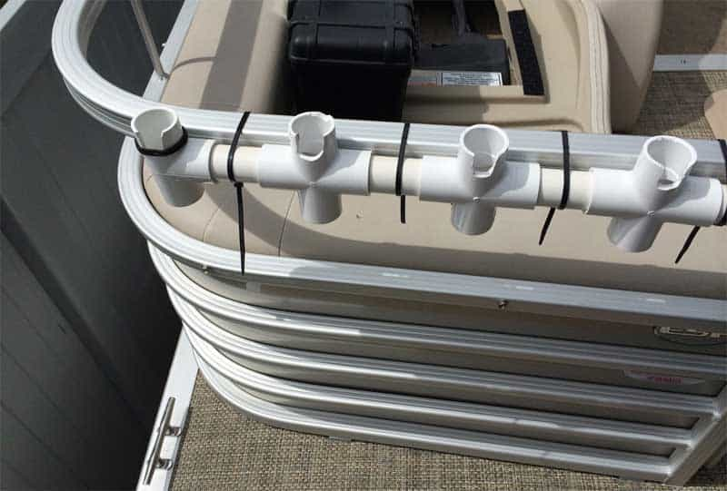 Pontoon boat shows best largest tips to make the most for Homemade fishing rod holders for boats