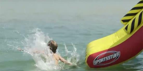 pontoon water sliding