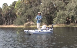 personal pontoon boat anchor system
