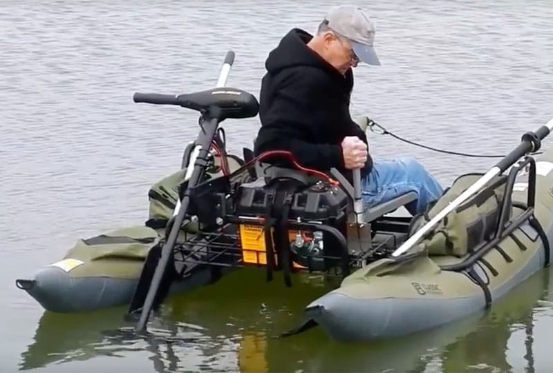 inflatable pontoon boat with trolling motor
