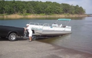 how to get a pontoon boat out of the water