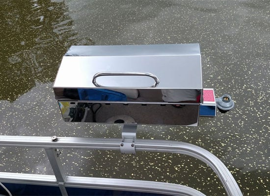 stainless steel grill for pontoon boat