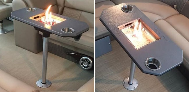 fire pit for pontoon boats