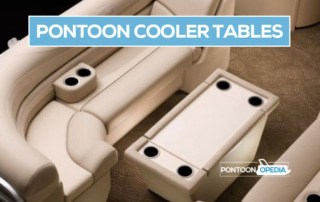 pontoon boat cooler tables