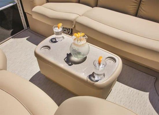 pontoon cooler table