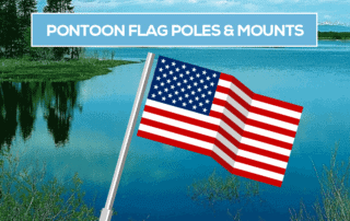 pontoon boat flag pole mounts holders