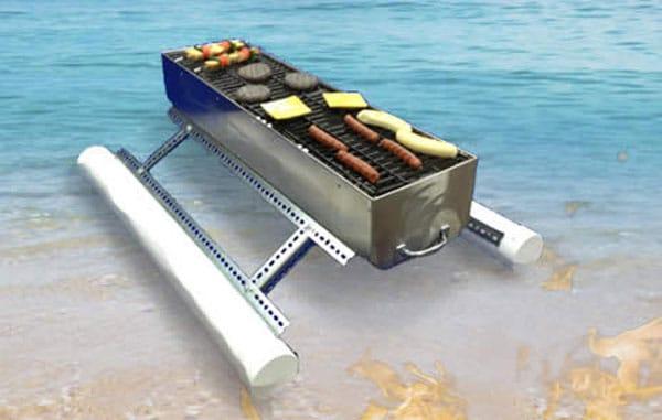 Floating BBQ Grill Idea