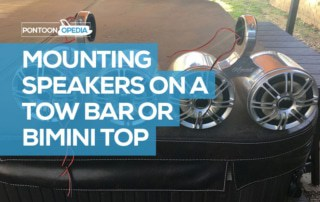mounting speakers on a bimini or tow bar