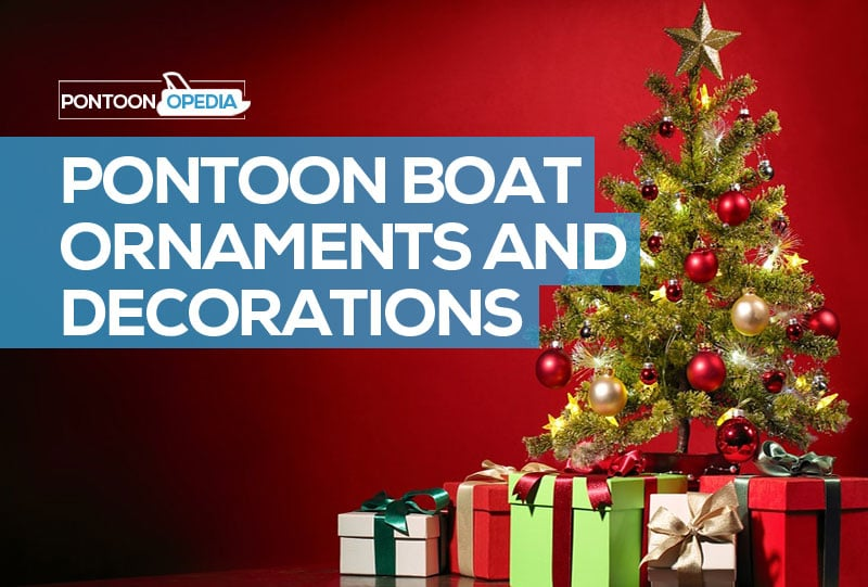Christmas Boat Decorations.Pontoon Boat Ornaments Decorations For Christmas Or Just