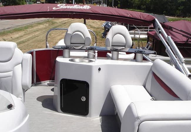This Pontoon Boat Bar Furniture Looks Very Slick, And You Would Hope So For  The Money!