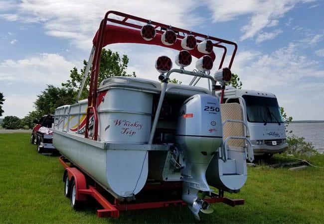 Pontoon Boat Ski Tow Bar >> How To Mount Speakers On A Pontoon Tow Bar Or Bimini Top