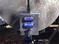 installing led lights on a pontoon