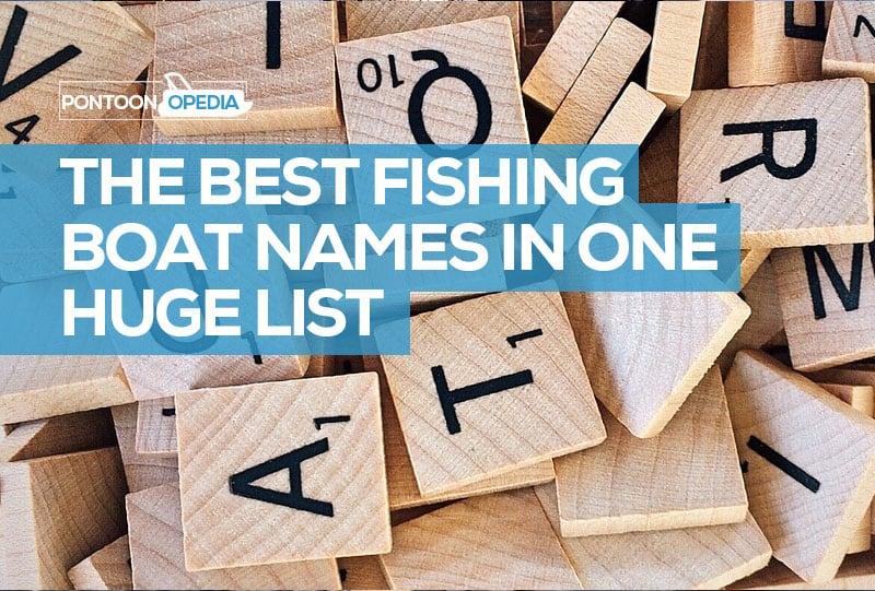 funny fishing boat names