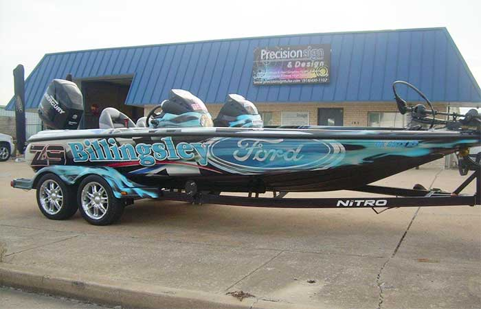 Tulsa bass boat wraps