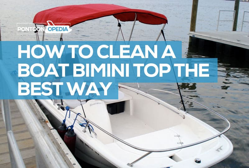 how to clean mildrew from bimini top
