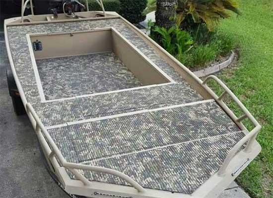 camo duck hunting jon boat modification