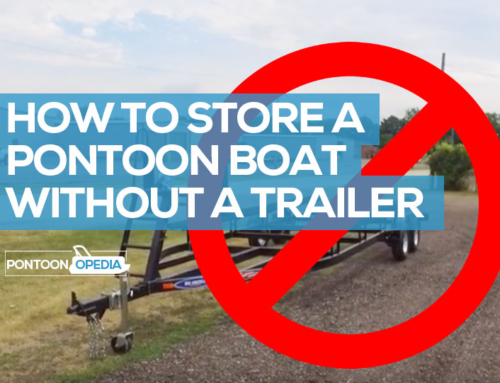 How to Store a Pontoon Boat Without a Trailer