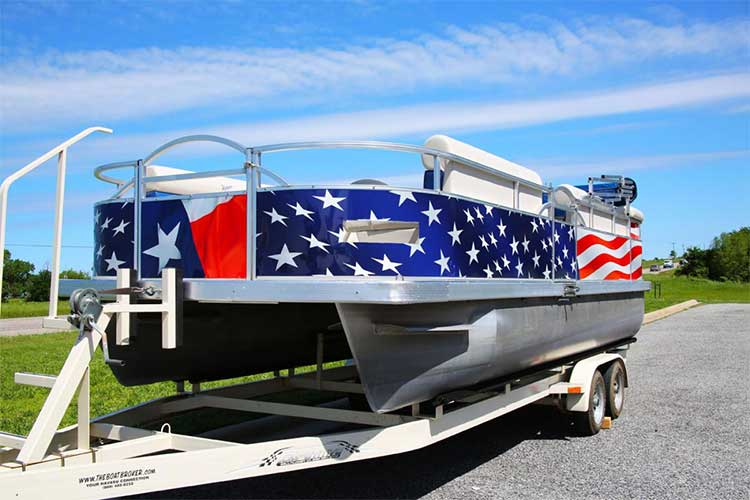 pontoon boat graphics wraps cost