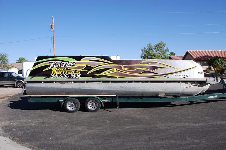 pontoon boat rental graphics wrap