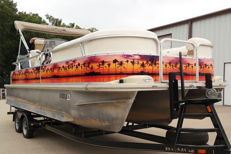 paradise pontoon wrap ideas