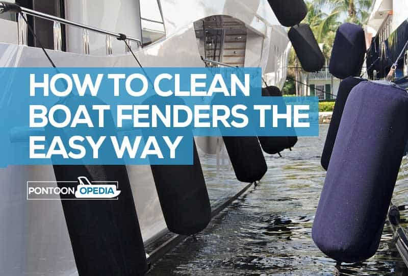 how to clean boat fenders