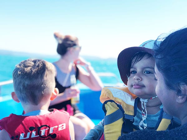 What do you need when taking a baby on a boat