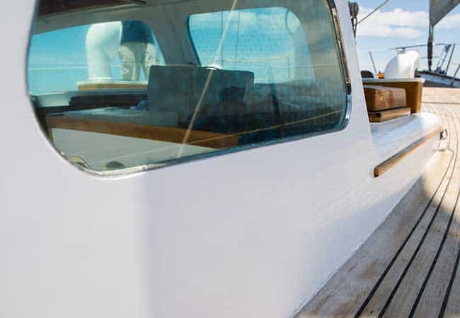 How to remove scratches from plastic boat windows
