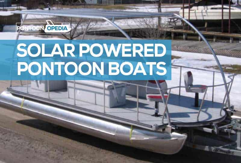 solar powered pontoon boat