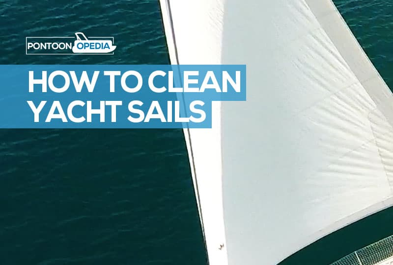 how to clean yacht sails