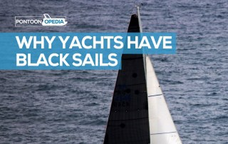 why do yachts have black sails